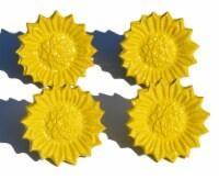 Vibhsa Antique Sunflower Napkin Rings Set - Yellow