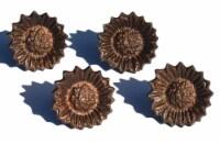 Vibhsa Antique Sunflower Napkin Rings Set