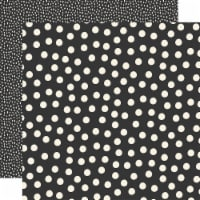 Say Cheese Main Street Double-Sided Cardstock 12 X12 -Black Dots Simple Basics - 1