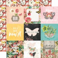 Simple Vintage Cottage Fields Double-Sided Cardstock 12 X12 -4 X4  Elements - 1
