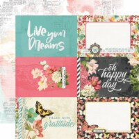 Simple Vintage Cottage Fields Double-Sided Cardstock 12 X12 -4 X6  Elements - 1