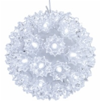 Sunnydaze 5-Inch Indoor/Outdoor Lighted Ball Hanging Decor - White - 1 unit(s)