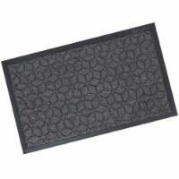 Sunnydaze 18.25 x 30-Inch Rubber/Polypropylene Entrance Mat - Gray Geometric