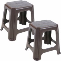 Sunnydaze Brown Plastic Step Stool - Set of 2 - 260-Pound Capacity - 16-Inch