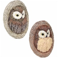 Sunnydaze Winifred and Wesley the Wise Old Owls Resin Tree Hugger Decoration - 1 unit(s)