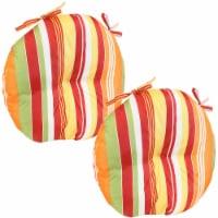 Sunnydaze Polyester Round Patio Seat Cushions - Set of 2 - Sherbert Stripes - 1 unit(s)