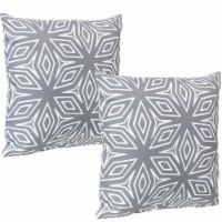 Sunnydaze 2 Outdoor Decorative Throw Pillows - 17 x 17-Inch - Gray Geometric