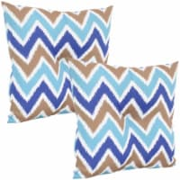 Sunnydaze 2 Outdoor Tufted Back Cushions - 19 x 19-Inch - Chevron Bliss - 1 unit(s)