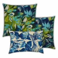Joita Calypso Nights Polyester Outdoor Pillows in Blue (Set of 3) - 1