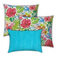 Joita Tropical Waters Polyester Outdoor Pillows in Multi-Color (Set of 3) - 1