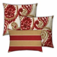 Joita Cherry Turnovers Polyester Outdoor Pillows in Red (Set of 3) - 1