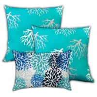 Joita Ocean Sea Weeds Polyester Zippered Pillow Covers in Blue (Set of 3) - 1