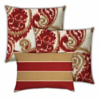 Joita Cherry Turnovers Polyester Zippered Pillow Covers in Red (Set of 3) - 1