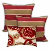 Joita Cinnamon Rolls Polyester Outdoor Zippered Pillow Covers in Red (Set of 3) - 1