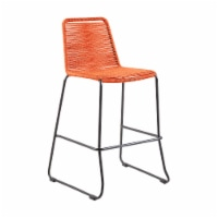 """Shasta 30"""" and 26"""" Outdoor Metal and Rope Stackable Barstool - 1 unit"""