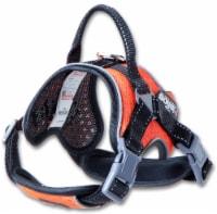 Dog Helios  'Scorpion'  Sporty High-Performance Free-Range Dog Harness - Medium / Orange