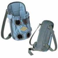 'Wiggle-Sack' Fashion Designer Front and Backpack Dog Carrier - Medium / Blue - 1