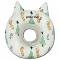 Ringlet' Licking and Scratching Adjustable Pillow Cat Neck Protector - Medium / White
