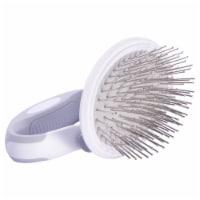 Pet Life  'Gyrater' Travel Swivel Pet Grooming Pin Brush - One Size / White - 1
