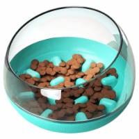 Pet Life  'Tumbowl' Slow Feeding Pet Bowl - One Size / Blue