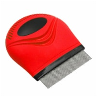 Grazer' Handheld Travel Grooming Cat and Dog Flea and Tick Comb - One Size / Red - 1