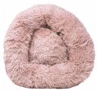 Pet Life  'Nestler' High-Grade Plush and Soft Rounded Dog Bed - Large / Pink
