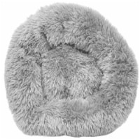 Pet Life  'Nestler' High-Grade Plush and Soft Rounded Dog Bed - Medium / Grey - 1