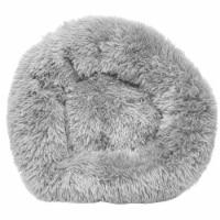 Pet Life  'Nestler' High-Grade Plush and Soft Rounded Dog Bed - Large / Grey - 1