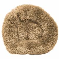 Pet Life  'Nestler' High-Grade Plush and Soft Rounded Dog Bed - Large / Beige - 1