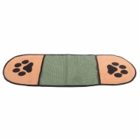 Hand Inserted Bathing and Grooming Microfiber Pet Towel - One Size / Green