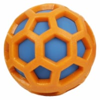 DNA Bark' TPR and Nylon Durable Rounded Squeaking Dog Toy - One Size / Orange