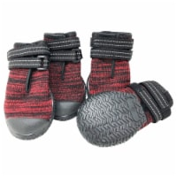 Pet Life  'Mud-Trax' Ankle Supporting and Performance Dog Shoes - Large / Red