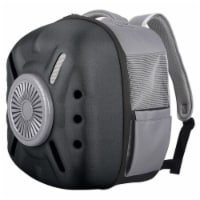 External USB Powered Backpack with Built-in Cooling Fan - One Size / Black