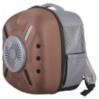 External USB Powered Backpack with Built-in Cooling Fan - One Size / Brown