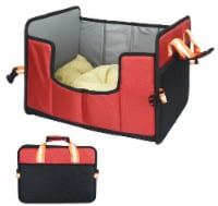 Pet Life  'Travel-Nest' Folding Travel Cat and Dog Bed - Small / Red - 1