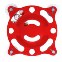 Pet Life  'Sticky-Swipe' Interactive Suction Cup Kitty Cat Toy - One Size / Red
