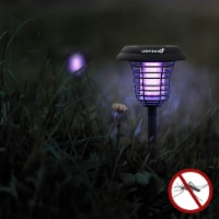 Solar Powered Light, Mosquito and Insect Bug Zapper-LED/UV Radiation Outdoor Stake Landscape - 4 units
