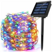 3ft 100 LED Solar Copper String Wire Lights Outdoor Garden Decoration 8 Modes -Color - 1 unit