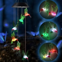 Solar String Lights Color Changing LED Mobile Hummingbird Wind Chimes Waterproof Outdoor - 1 unit