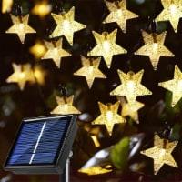 23 Ft 50 Solar Star String Light 8 Lighting Modes Outdoor Garden Patio Lawn Decoration - Warm - 1