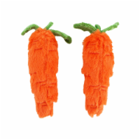 Midlee Plush Carrot Easter Dog Toy- Pack of 2 - 1