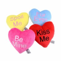Midlee Candy Heart Valentine's Dog Toy- Set of 4 (Small) - 1