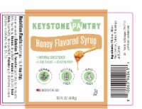 Keystone Pantry Honey Flavored Syrup with Monk Fruit 1 pint bottle