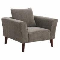 Porter Designs Percy Modern Soft Microfiber Chair - Gray - 1