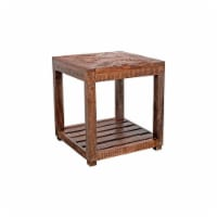 Porter Designs Gunnison Solid Acacia Wood End Table - Brown - 1