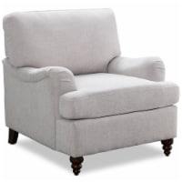 Clarendon Oatmeal Gray Fabric Arm Chair - 1