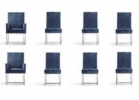 Manhattan Comfort Element Blue Dining Chairs (Set of 8)