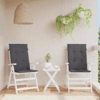 vidaXL Garden Chair Cushions 2 pcs Anthracite 47.2 x19.7 x1.6 - 2
