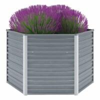 "vidaXL Garden Raised Bed Galvanized Steel 50.8 x50.8 x31.3  Gray - 50.8"" x 50.8"" x 30.3"""