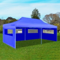 "vidaXL Blue Foldable Pop-up Party Tent 9'10  x 19'8 - 118.1"" x 236.2"""